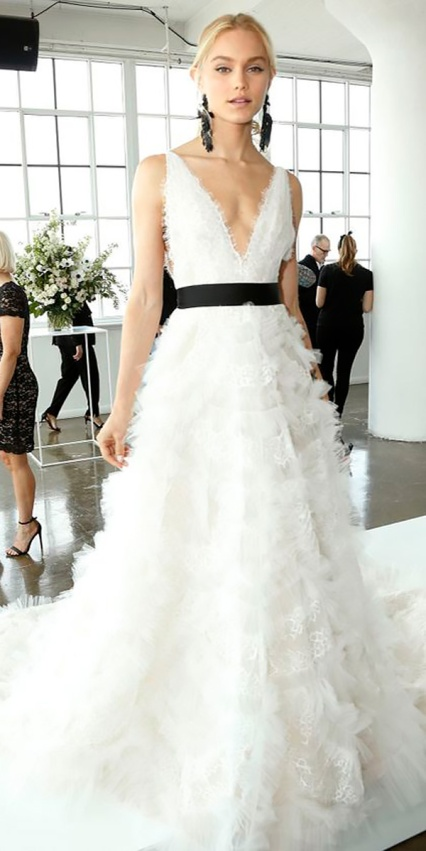 a-line-deep-v-neckline-wedding-dresses-2018-with-black-ribbon-marchesa
