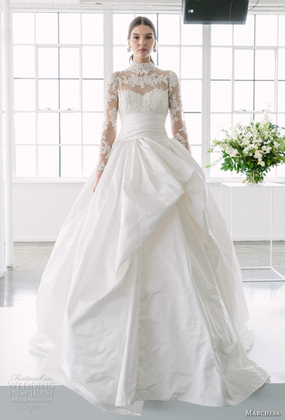 marchesa-spring-2018-bridal-long-sleeves-illusion-high-neck-sweetheart-neckline-heavily-embellished-princess-ball-gown-a-line-wedding-dress-sheer-lace-back-chapel-train-11-mv