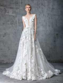 victoria-kyriakides-jasmine-wedding-dress-floral-applique-spring-2019